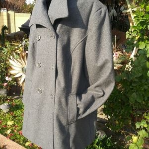 Pure Energy Wool Blend Plus Size Pea Coat